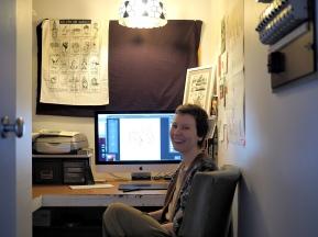 Giselle's tiny little studio