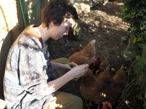 Giselle & the chooks!